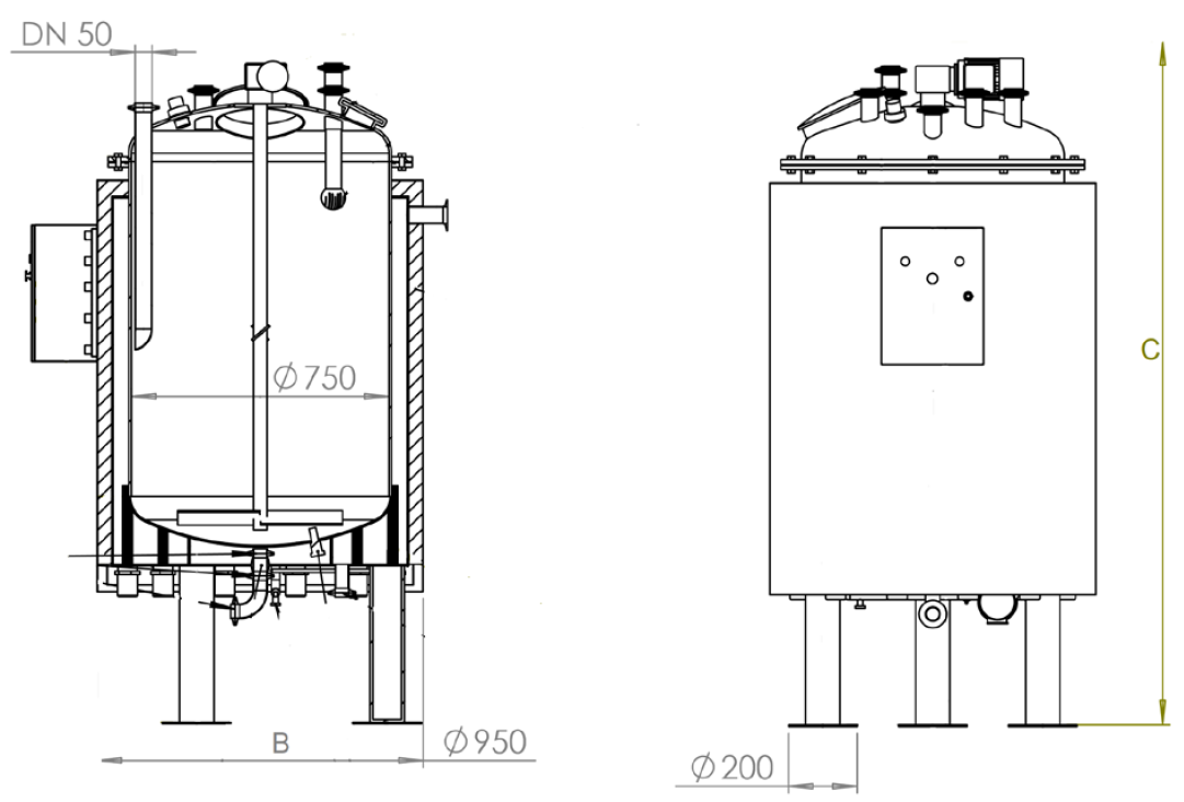 Сontinuous stirred tank reactor F230