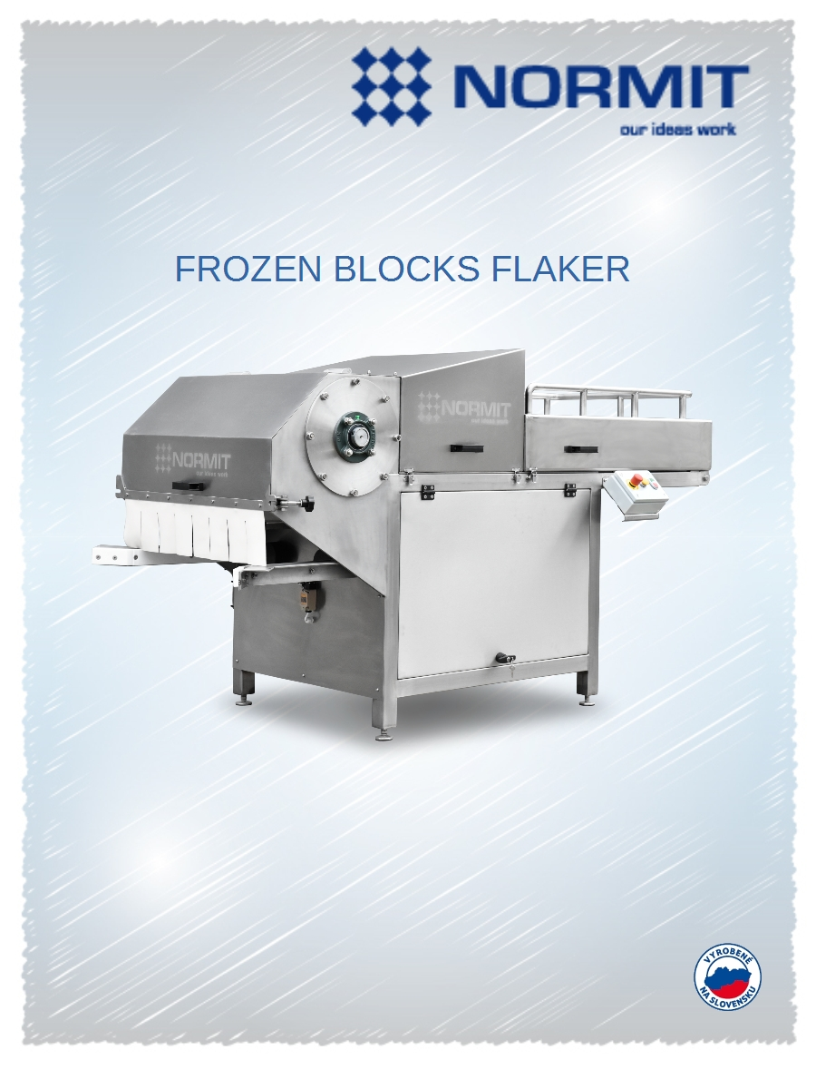 Flakers of frozen blocks