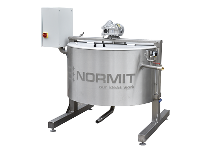 Steam jacketed kettle with stirrer UVK 300 - NORMIT
