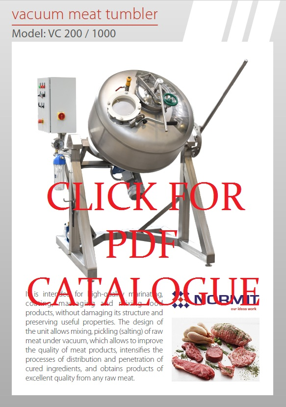 Vacuum tumbler | Meat tumbler | MEAT MIXER catalogue
