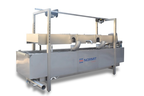 continuous fryer system, industrial fryer machine,