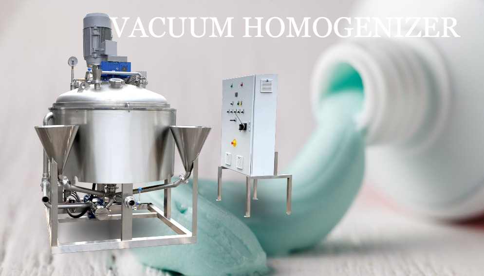 Vacuum Mixer Homogenizer | Toothpaste making machine