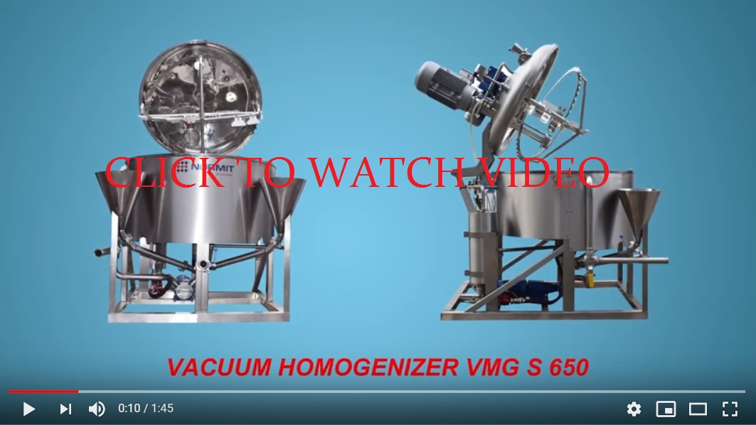 Vacuum Mixer Homogenizer | Toothpaste making machine video