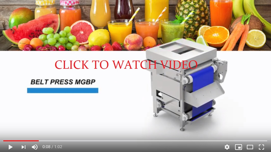 Juice belt press MGBP