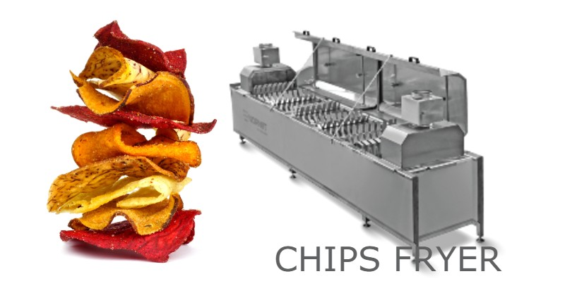 Continuous  fryer SnackPro | Deep fat fryer | Industrial continuous fryer