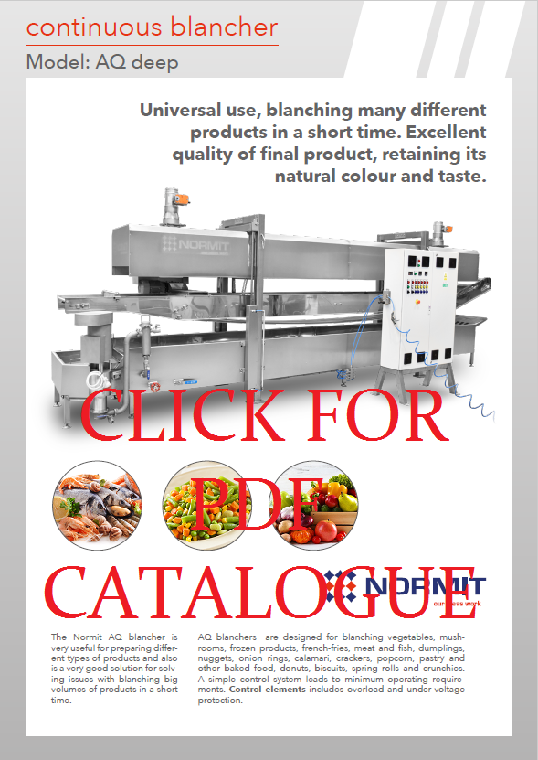 Continuous blancher / Vegetable blanching machine  catalog