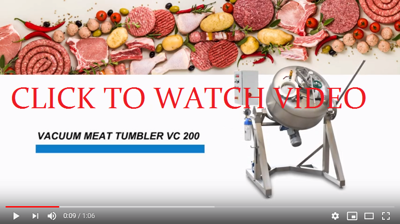 Vacuum tumbler VC NORMIT / TUMBLING MACHINE video