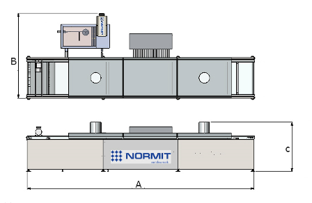 Conveyor deep fryer NORMIT