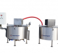 Heating and cooling vessels for syrup production